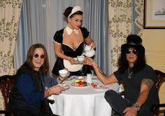 Slash Photos: Ozzy Osbourne And Slash Enjoy Tea At The Dorchester Hotel