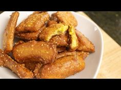 You searched for fried bananas - Hot Thai Kitchen Thai Fried Banana Recipe, Fried Banana Recipes, Fried Plantain Recipe, Plantain Recipes, Thai Recipes, Asian Recipes, Coconut Jelly, Thai Coconut, Fried Bananas