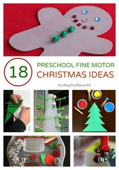 Looking for fun Christmas fine motor activities? Here are 18 fun ideas that get the hands and fingers ready for writing! Christmas Activities For Toddlers, Christmas Crafts For Toddlers, Toddler Christmas, Easy Christmas Crafts, Fun Crafts For Kids, Holiday Activities, Toddler Crafts, Preschool Crafts, Kids Christmas
