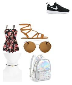 """""""Coachella 1"""" by ella1966666 on Polyvore featuring NIKE, Hollister Co., Givenchy, Bari Lynn and Topshop"""