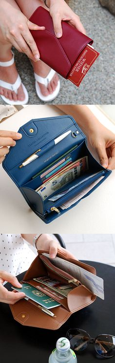 With so many organizing spaces, this clutch always saves me from lots of traveling headaches as I can store everything in one place securely!