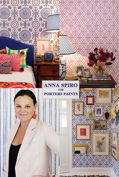 Anna Spiro wallpaper for Porter's Paints by ishandchi, via Flickr