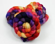 BFL Wool Roving  Hand Painted Felting or by woolgatherings on Etsy