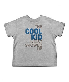 Look at this Heather Gray 'The Cool Kid' Tee - Toddler & Kids on #zulily today!