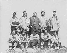 Bear Shield and friend (Anderton, Ft. Walsh, ca, 1878)   Blackfoot elders, near Calgary (Notman, 1889):   Blackfoot boys (Boorne and May(?). ca. 1885):   Blackfoot group (Truman Ward Ingersoll,