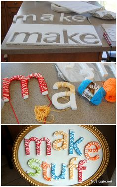 craft room decor - m