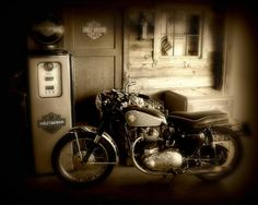 Cycle Garage Photograph by Perry Webster - Cycle Garage Fine Art Prints and Posters for Sale
