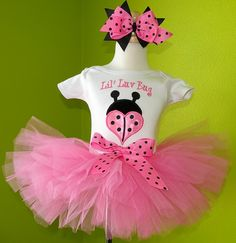 Luv Bug Valentine Tutu Set for that cute little princess on Valentines day!