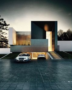 Casa Terra by Creato Arquitectos Location: Denmark Welcome to the page ! by architecture_jonckers Residential Architecture, Amazing Architecture, Contemporary Architecture, Interior Architecture, Architecture Company, Design Exterior, Garage Design, Modern Exterior, Modern Garage