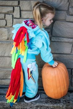 Rainbow Dash! | 37 Cheap And Easy Sweatsuit Halloween Costumes