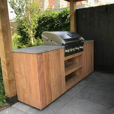 Home Renovation Outdoor Buitenkeuken Milano - Vuur-tafels. Bbq Stand, Bbq Hut, Outdoor Grill Station, Bbq Places, Tyni House, Modern Outdoor Kitchen, Bbq Table, Patio Grill, Built In Bbq