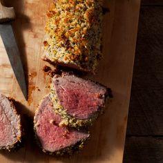 Parmesan and Herb-Crusted Beef Tenderloin   Food & Wine