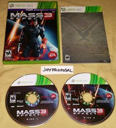 Mass Effect 3 (Microsoft Xbox 360, 2012) Role Playing War Strategy Shooting RPG