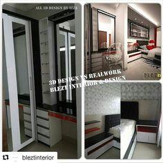 #Repost @bleztinterior (@get_repost)  ・・・  3D x Realwork   #3d #3dmax #designinterior #homedecor #wardrobe #lemari #bedroom #bed #homedecor #interiorjogja