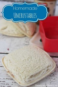 Looking for Easy lunch ideas for kids? Try these Homemade Uncrustables that you can freeze!