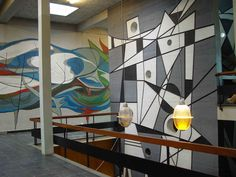 Concrete relief by Hans Wiesman in the former St. Petrus LTS-school in Haarlem 1966.