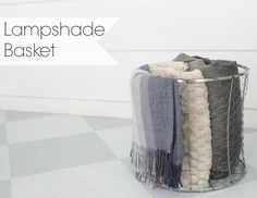 how to turn an old lampshade into a metal basket, crafts, how to, repurposing upcycling, storage ideas