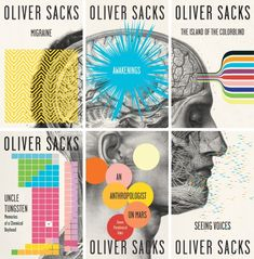 Oliver Sacks series paperback repackage (Migrane; Awakenings; The Island of the Colorblind; Uncle Tugnsten; An Anthropologist on Mars; Seeing Voices)  by Vintage Designer: Cardon Webb Art Director: John Gall Design Firm: Vintage/Anchor