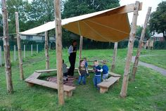 Gathering area -Playground Build & Design | Natural Child Play | Earth Wrights Ltd
