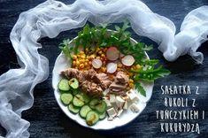 Dorsz pieczony w folii z czosnkiem i koperkiem   – Dietetyczne przepisy – Recipe Images, Fresh Rolls, Cobb Salad, Sprouts, Vegetables, Breakfast, Ethnic Recipes, Food, Morning Coffee