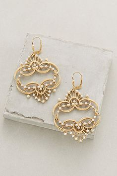 Pearled Chandelier Earrings #anthropologie