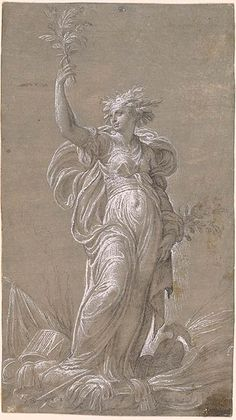 Nicolò dell' Abate | Allegory of Peace | Drawings Online | The Morgan Library & Museum