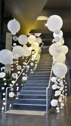 Entrance Decor Aerial South Wharf Melbourne | Organic Bubble Strand Balloons #balloondecorations