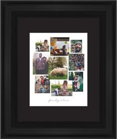 Gallery Collage of Nine Framed Print, Black, Classic, White, Black, Single piece, 11 x 14 inches