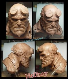 Some clay roughs for McFarlane Toy's. The first is a clay rough for Redeemer and wasnt produced. The second is a clay rough for Spawn Series 29: Thamuz. Sculpted in Castiline, roughly 12-13 in...