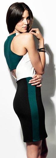 Robert Rodriguez Techno Colorblock Dress