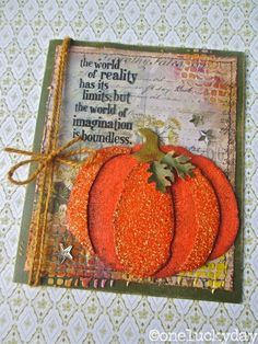 Pumpkin card. It's all in the details.