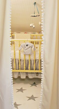 sweet yellow crib // nursery