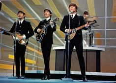 "1964 Beatles at USA Ed Sullivan Show First and Second Time Photo Gallery "" Beatles Band, Beatles Songs, The Beatles, Rock N Roll, The Ed Sullivan Show, Pochette Album, Beatles Photos, British Invasion, The Fab Four"
