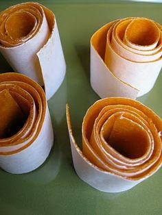 Homemade fruit roll ups! I must try!!!