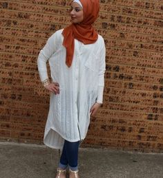 Love the oversize top......trendy hijab style......