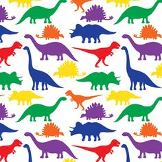 Dinosaurs - White Canvas Print
