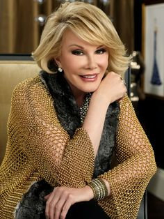 So funny, so fabulous, and always fierce. I adore so many traits about Joan Rivers.