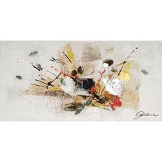 Abstrato com folhas 23 polegadas x 46 polegadas pintura a óleo da parede Arte