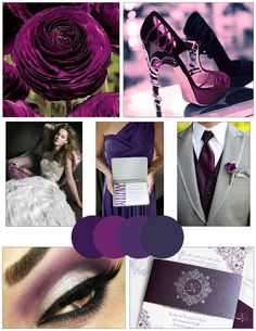 Plum & Gray Wedding Ideas (WV WEDDINGS - http://www.mywvwedding.com/Planners-Palette/September-2012/Plum-Perfect/) @WV Weddings Magazine / Nikki Bowman