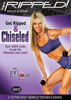 Jari Love Get Ripped And Chiseled DVD. OMG I did half of this today with a set of 2lb weights and my god I'm BURNING tomorrow is going to rock!