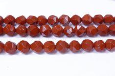 Jewelry Making Beads, Jewelry Making Supplies, Diamond Shapes, Diamond Cuts, Red Gemstones, Red Jasper, Craft Materials, Natural Red, Wholesale Jewelry