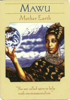 Mawu; Goddess Guidance Oracle Cards; Doreen Virtue