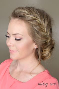 Fishtail French Braid Braided Bun tutorial