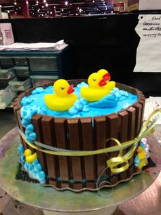 Rubber duckies cake