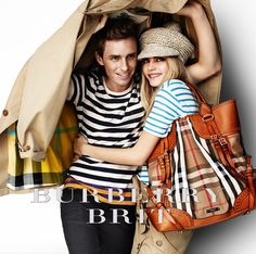 Burberry S/S12 campaign featuring Eddie Redmayne and Cara Delevingne
