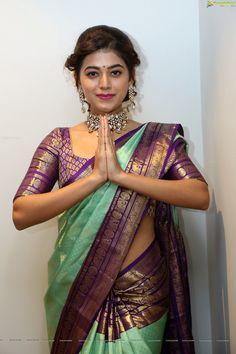 Ultimate Festive Saree Collections are Here Wedding Saree Blouse Designs, Pattu Saree Blouse Designs, Half Saree Designs, Fancy Blouse Designs, Lehenga Designs, Indian Bridal Sarees, Indian Beauty Saree, Wedding Sarees, Silk Saree Kanchipuram