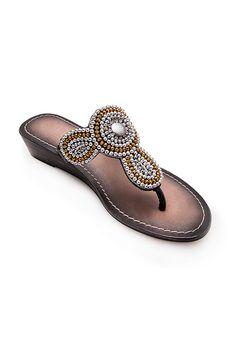 Sandalias de cuña - Piel y apliques - Zerimar leather - Summer 2016