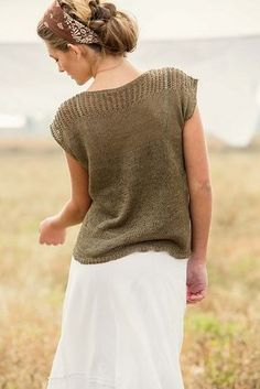 Look here for 12 beautiful summer knitting patterns, including fab tees and tanks. These are simple and classic and will become favorite wardrobe standards!