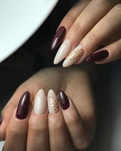 40 + burgundy design for long nails Mary Johnson, Fall Nail Art, Nails On Fleek, Nail Arts, Nail Tech, Long Nails, Beauty Nails, Opi, Nail Designs
