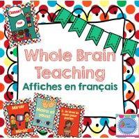 """Affiches en français pour le """"Whole Brain Teaching"""" Teaching Posters, Whole Brain Teaching, French Resources, Voici, School, Teaching, Posters, France"""